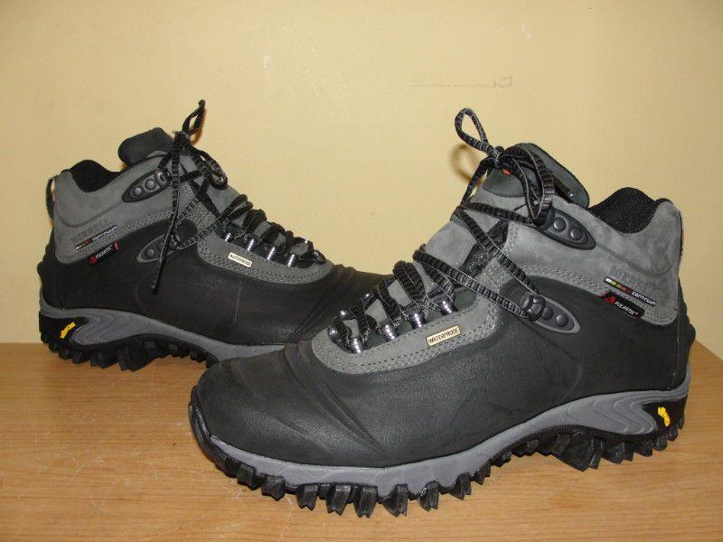 Merrell Thermo 6 Waterproof Black Gray Hiking Ankle Boots J82727 Shoes Mens  Sz 8  Merrell  WinterHikingTrail cb36ac20a41