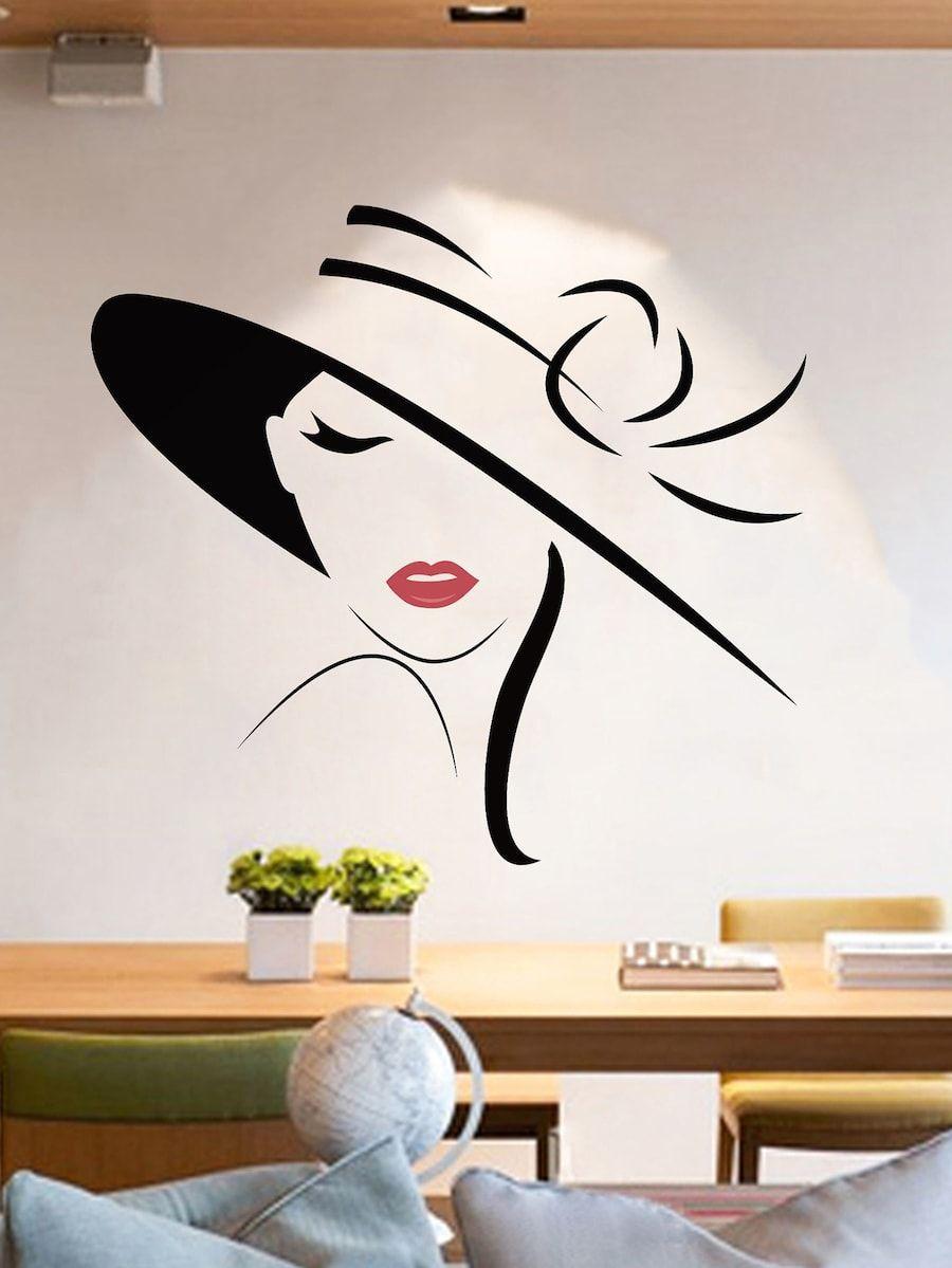 Elegant Lady Wall Decal Shein Sheinside Wall Painting Decor