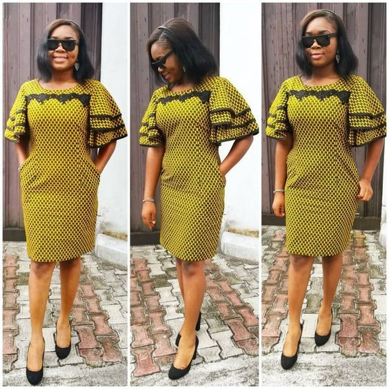 Check Out The Scintillating Short Ankara Gown Styles