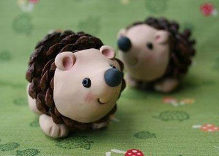 Pine Cone Hedgehogs Craft