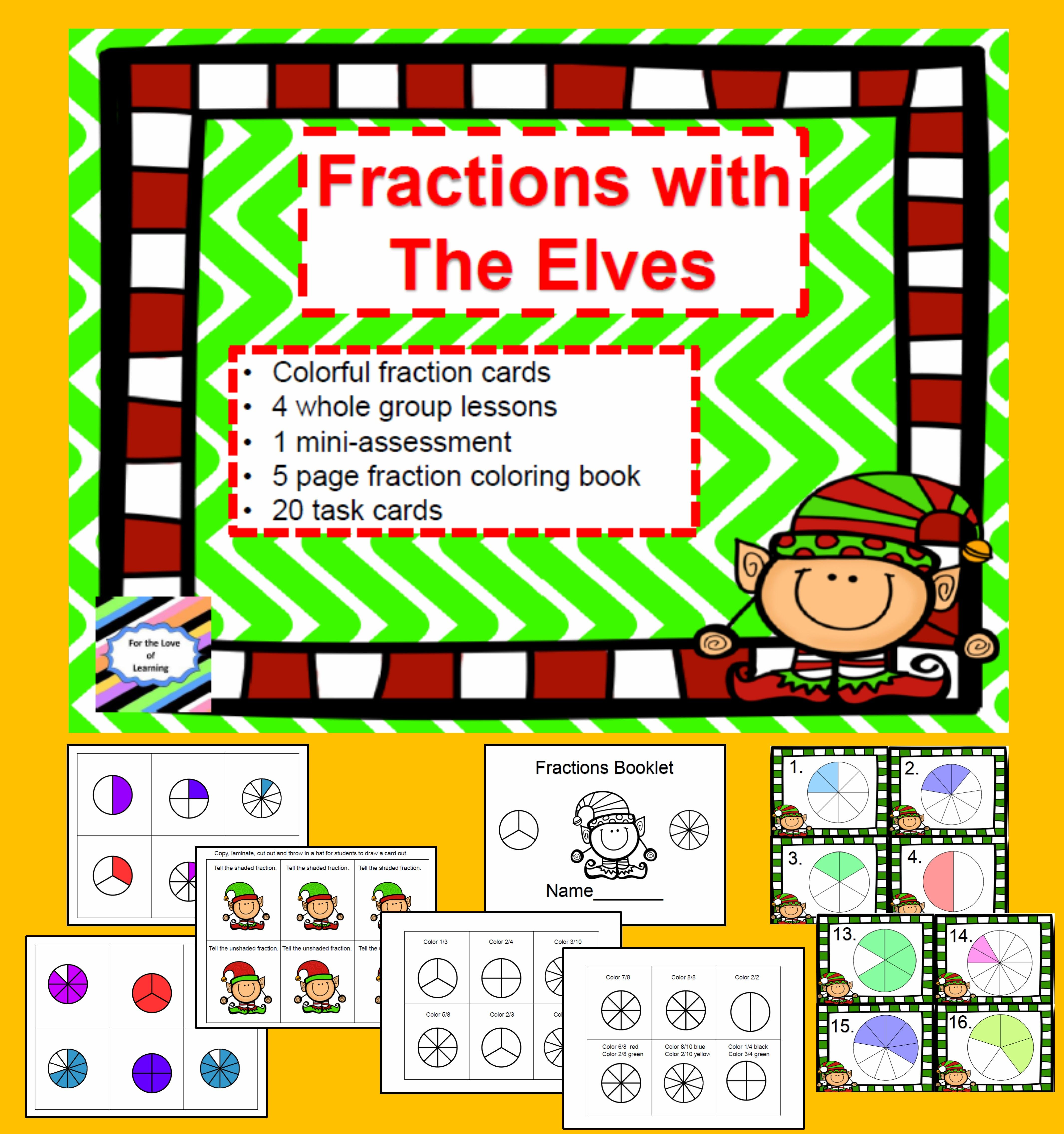 Fractions With the Elves | Group activities, Activities and Maths
