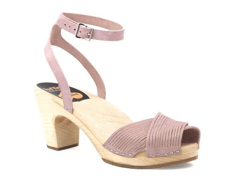 Swedish Hasbeens Leather Ankle Strap Sandals hot sale sale online fm9WV