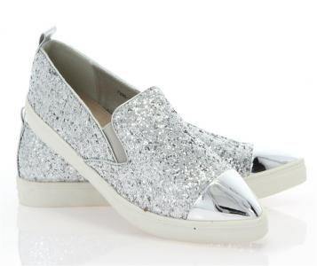 5ep1 Mega Lsniace Slip On 7285 Silver 36 41 5839324718 Oficjalne Archiwum Allegro Slip On Slip On Sneaker Silver