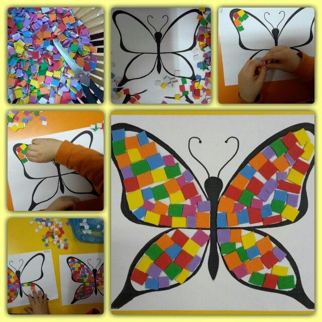 Etiketli Evayla Yapilmis Mozaik Calismasi Mozaic Sanati Sanat