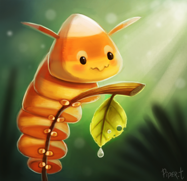 DAY 76. Candypede (30 Minutes) by Cryptid-Creations on deviantART  Cute art and digital illustrations