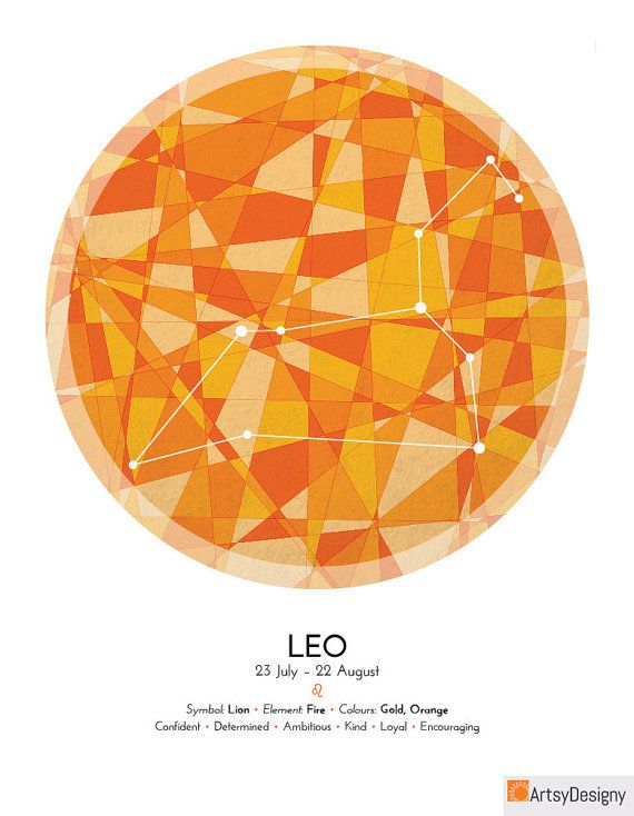LEO Zodiac Constellation Poster - Abstract Modern Art Gallery Quality Giclée Print