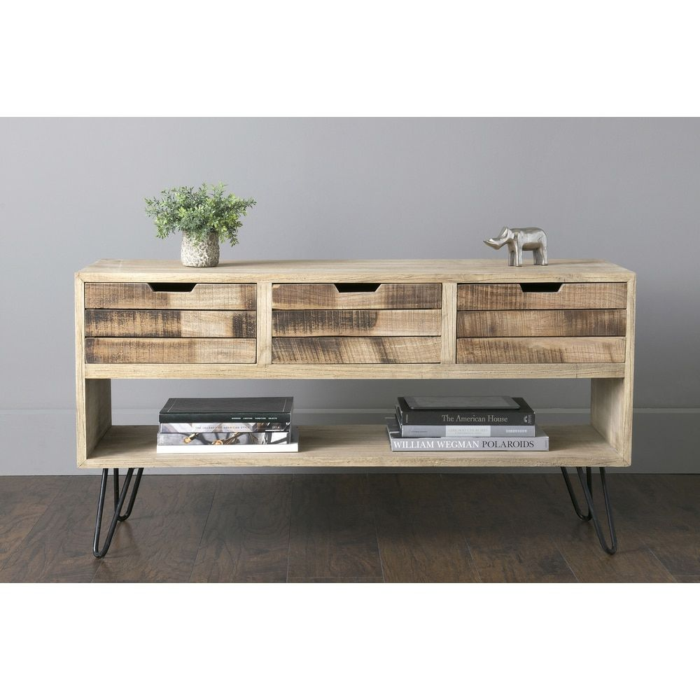 East At Main S Oliver Brown Mindi Wood Rectangular Chest  # Meuble Tv Mindi
