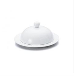Prato com tampa em porcelana 20cm de diâmetro