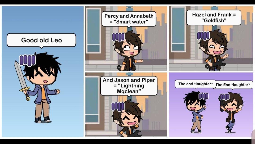 Gacha Life Percy And Annabeth Hazel And Frank Percy Jackson