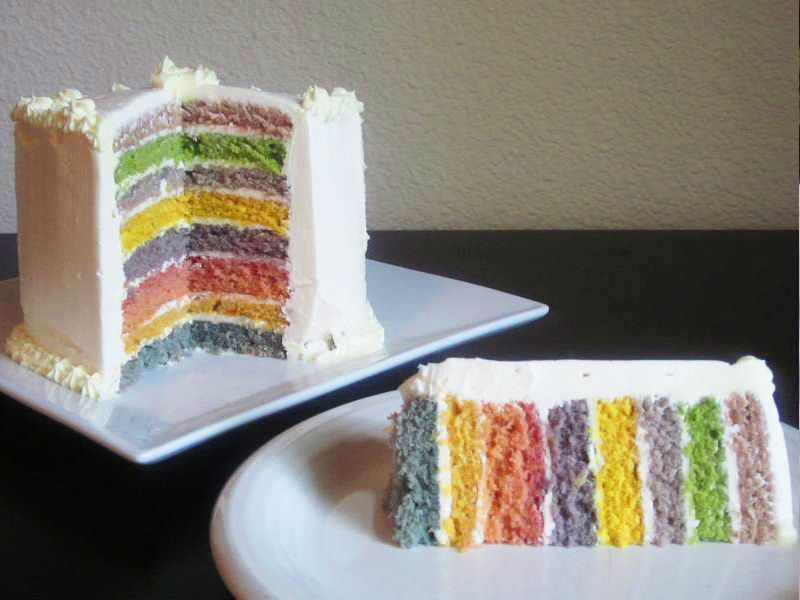 HOW TO: Make a DIY organic rainbow cake without toxic ...