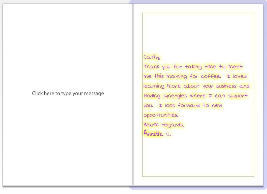 A Text An Email A Phone Call A Personalized Greeting Card