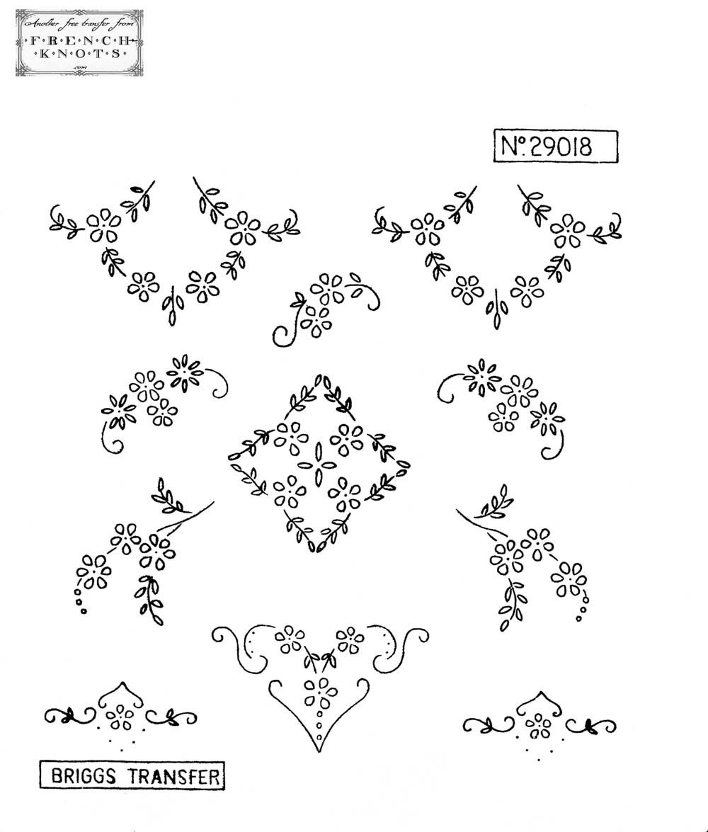 Briggs Embroidery Transfer Patterns | embroidery19 | Pinterest ...