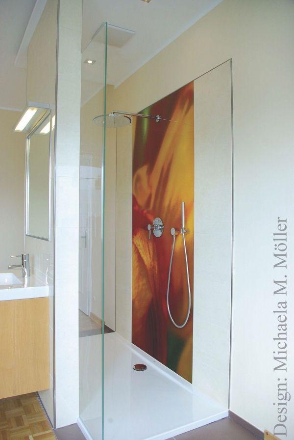 DuschenRckwand aus Glas  Badezimmeridee  Pinterest