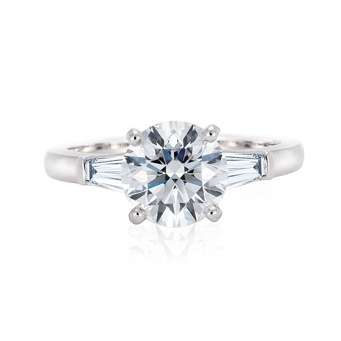 Clic Diamond Engagement Ring With Tapered Baguettes Ok So Maybe I Like A Lot