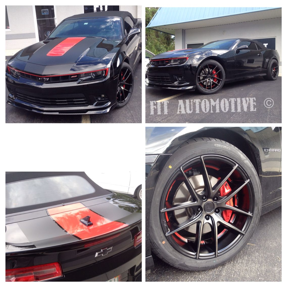 Chevy Camaro ALL CUSTOM painted Niche wheels matte black and red