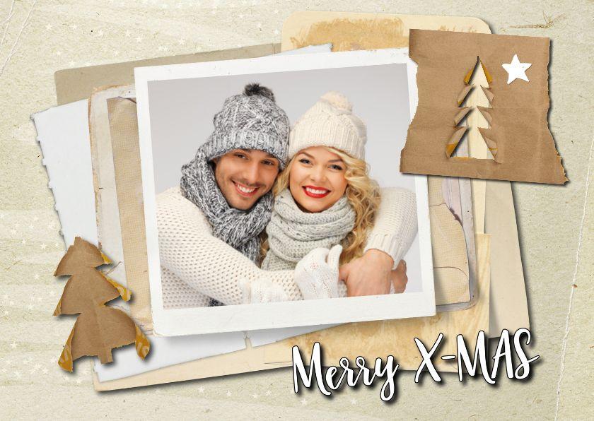 Kerstkaart hip trendy papier -SG, verkrijgbaar bij #kaartje2go voor €1,89