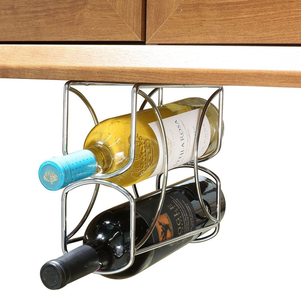 Under Cabinet Wine Racks Rev A Shelf Double Wine Bottle Rack 3250cr Chrome Finish Bottle
