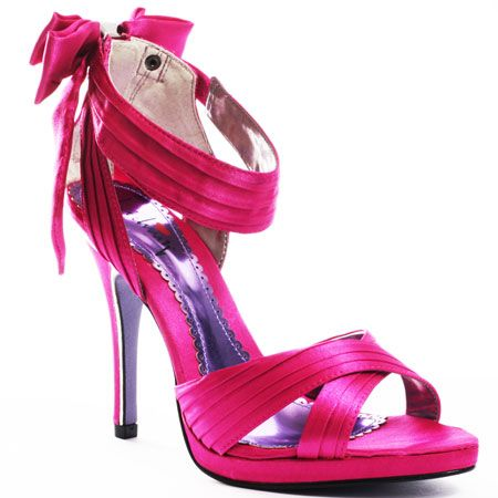 Hot Pink Shoes For The Bride To Wear With Her Wedding Dress Black And Fuschia Color Theme