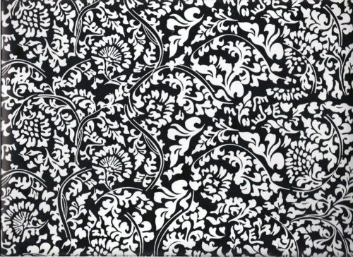 9ft Mirabella Black White Floral Toile Peel Stick Contact Paper