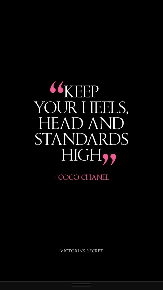 Risultati immagini per keep your heels head standards high coco chanel