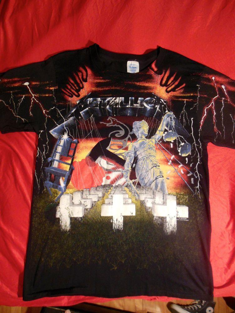 Authentic vintage metallica tshirt 1991 tour size xl