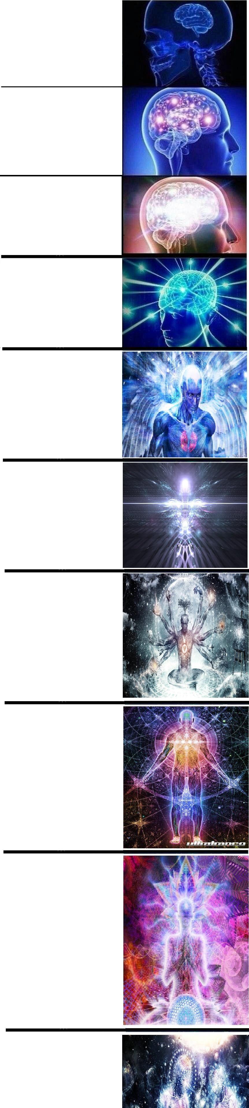 Expanding Brain template Meme template, Memes funny