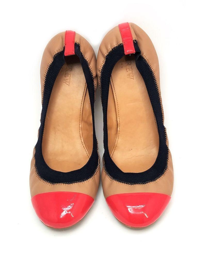 05f1d0e694e2 J Crew Mila Cap Toe Ballet Flats Multi Color Italian Leather Size 9 M   JCREW  BalletFlats  Casual