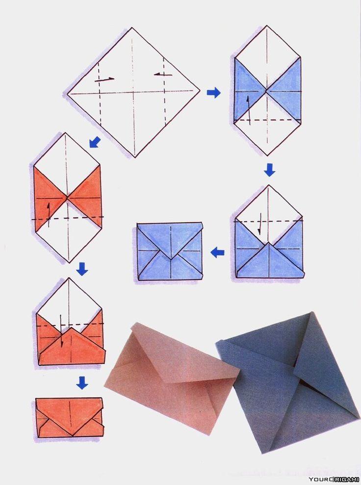 Umschlag für Postkarten und nicht nur - #für #nicht #nur #origami #Postkarten #Umschlag #und #briefumschlagbasteln