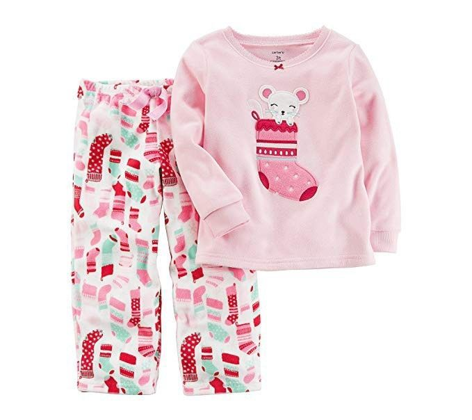 e3e6f824cb42 NWT Carters Baby Girl 24 Months 2 Piece Fleece Christmas Pajama ...