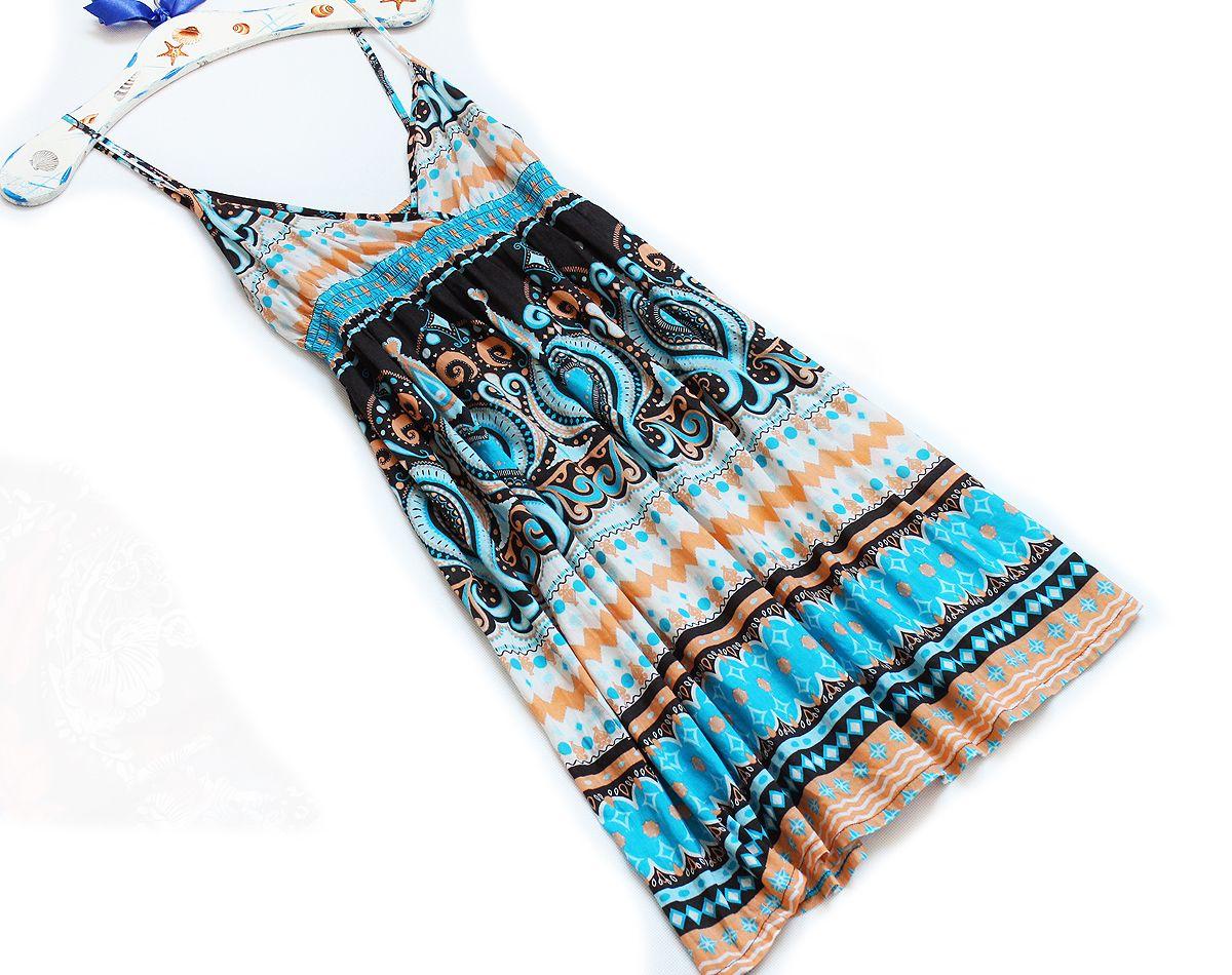 H M Bawelniana Sukienka Mini Boho Na Lato S M 7395354182 Oficjalne Archiwum Allegro Moda Boho High Neck Bikinis Hippie Boho