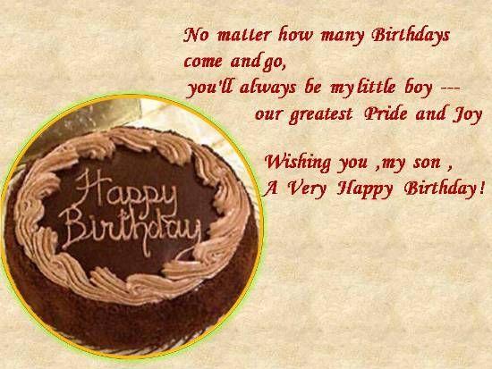 Mom to Son Birthday Wishes – Happy Birthday Greeting to Son