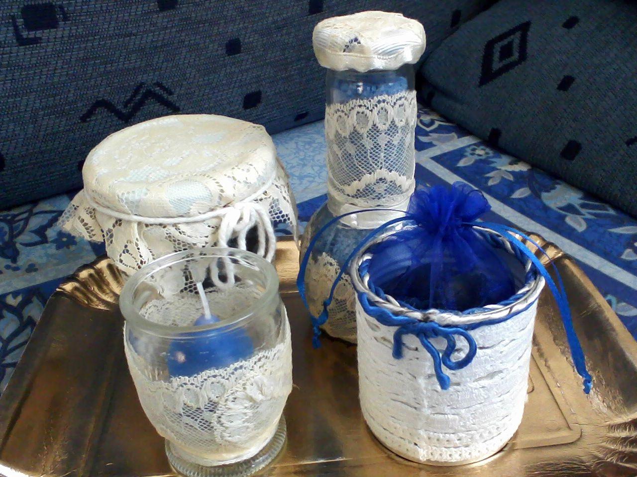 Barattoli di vetro porta porta candele porta sali da bagno e porta sacchettino - Porta sali da bagno ...