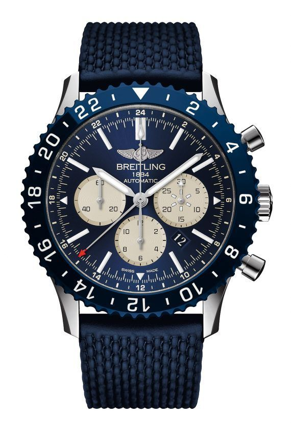 6a4d952fbd2 The  breitling Chronoliner B04 Boutique Edition - this watch s all-blue  livery houses