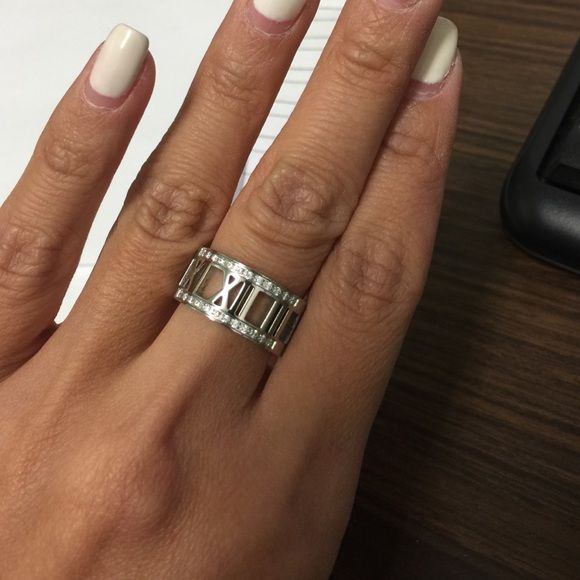 Roman numerals ring Gorgeous Roman numerals ring with crystals