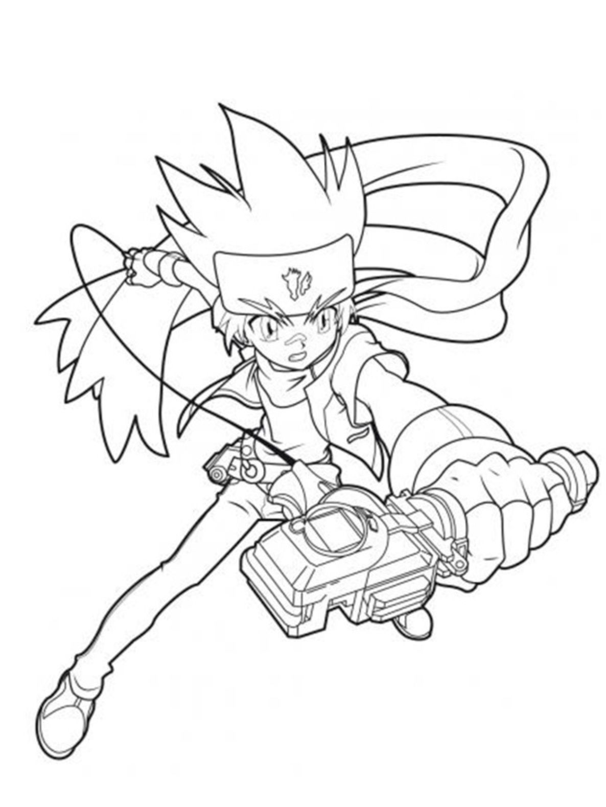 Beyblade Coloring Pages Gingka Hagane Coloring Pages Metal Masters