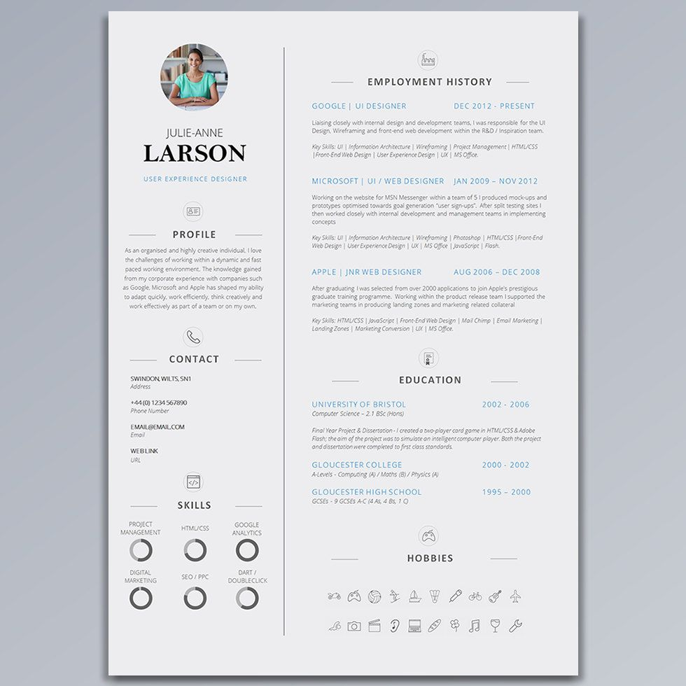 resume template for best minimal resume templates design resume template cv template cover letter application advice clean