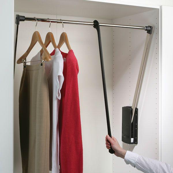 Pull Down Wardrobe Rail Hafele Uk Ltd Wardrobe Rail Hanging Rail Fitted Wardrobe Interiors