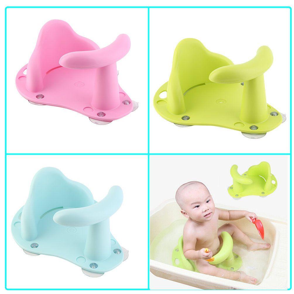1.25 GBP - Baby Bath Tub Seat Infant Child Toddler Kids Anti Slip ...