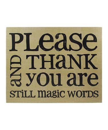 Loving this 'Please and Thank You' Box Wall Sign on #zulily! #zulilyfinds