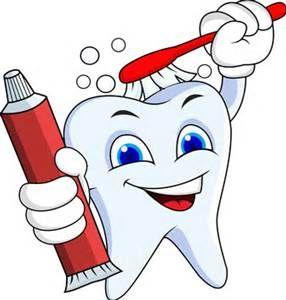 Tooth healthy. Cartoon good hygiene for
