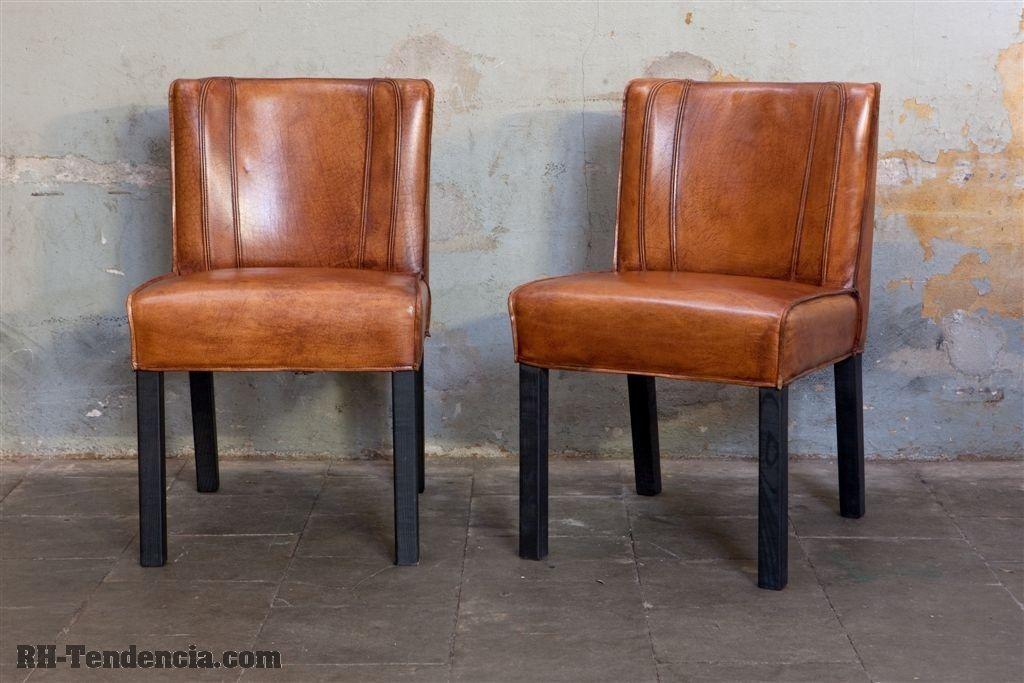 stoelen, tafel steigerhout, teak tafel, eiken tafel, wagondelen, meubelen op maat, boomstam tafel, salontafel, tafel notenhout, retro, fauteuils, steigerhouten - Stoelen leder