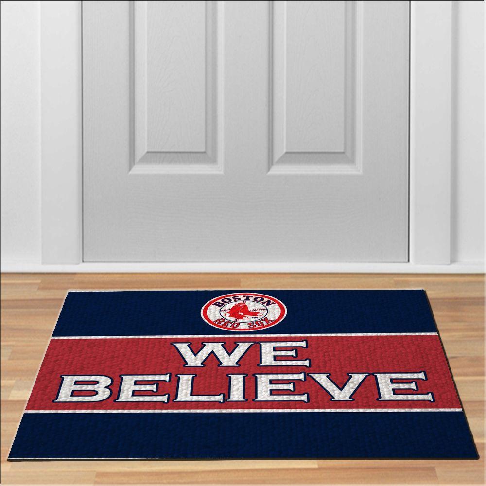 nice boston red sox believe MLB Baseball Floor Durable Door Mat Non-Slip & nice boston red sox believe MLB Baseball Floor Durable Door Mat Non ...
