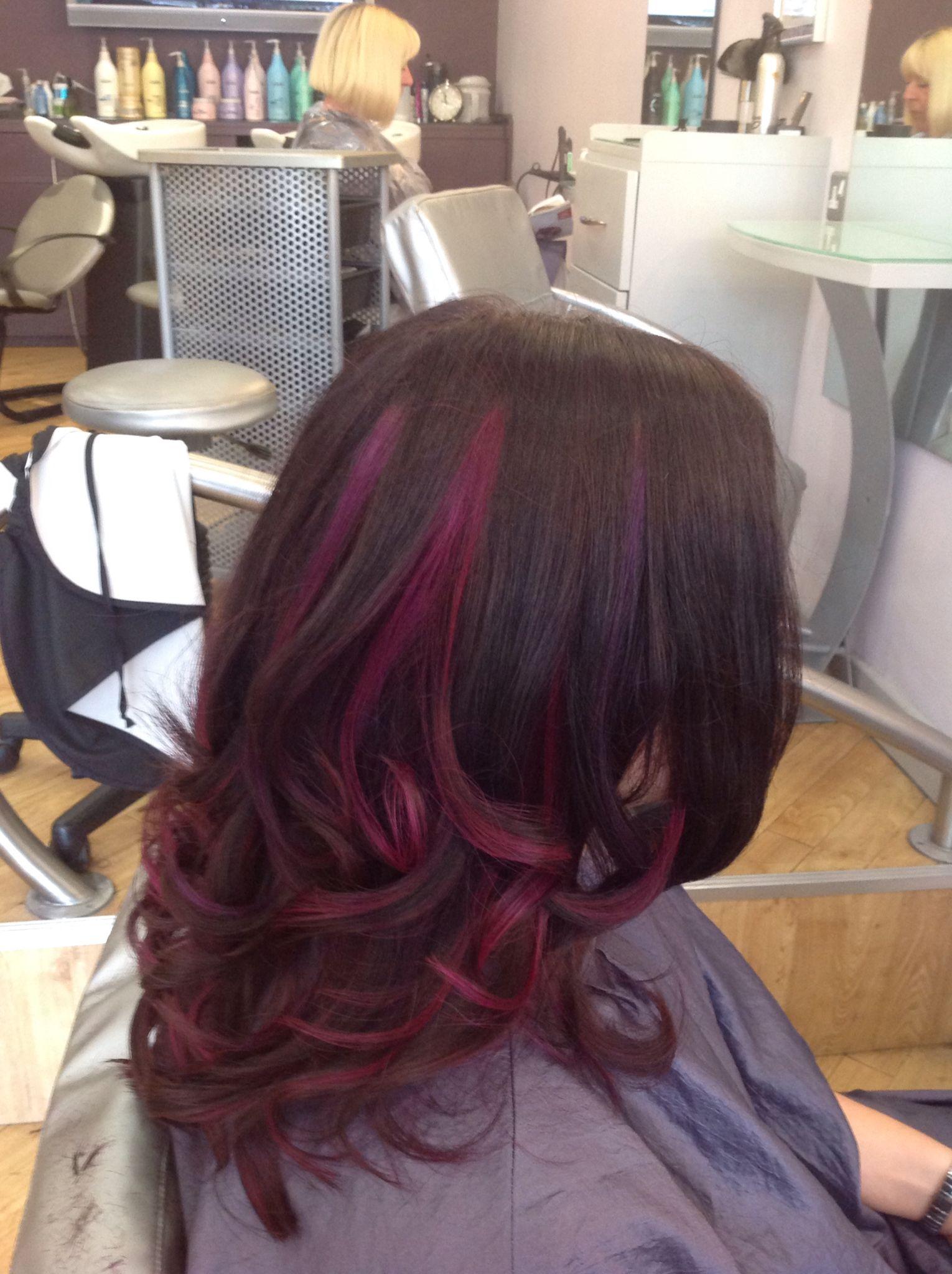 Adam lee hair and beauty bristol uk dark red balyage pinterest