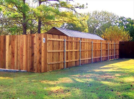 Wood Fences Gallery Viking Fence Full Privacy Fence Built On 3 Rails And Steel Posts Building A Fence Fence Diy Fence