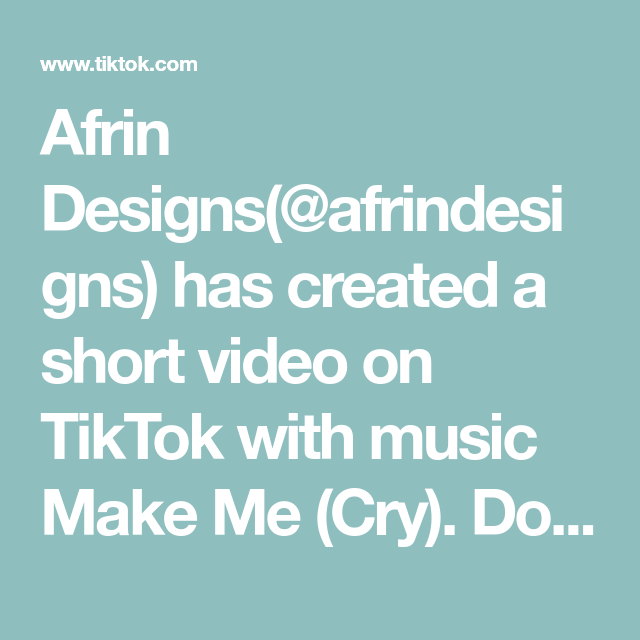 Afrin Designs Afrindesigns Has Created A Short Video On Tiktok With Music Make Me Cry Doesn T Have To Be Compl Wedding Design Decoration Event Life Design
