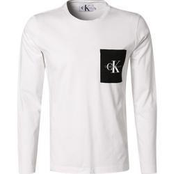 Shirts Mit Tasche Fur Herren Calvin Klein Jeans Herren T Shirt Longsleeve Regular Fit Baumwolle Weiss Calv In 2020 Calvin Klein Calvin Klein Jeans Mens Tshirts