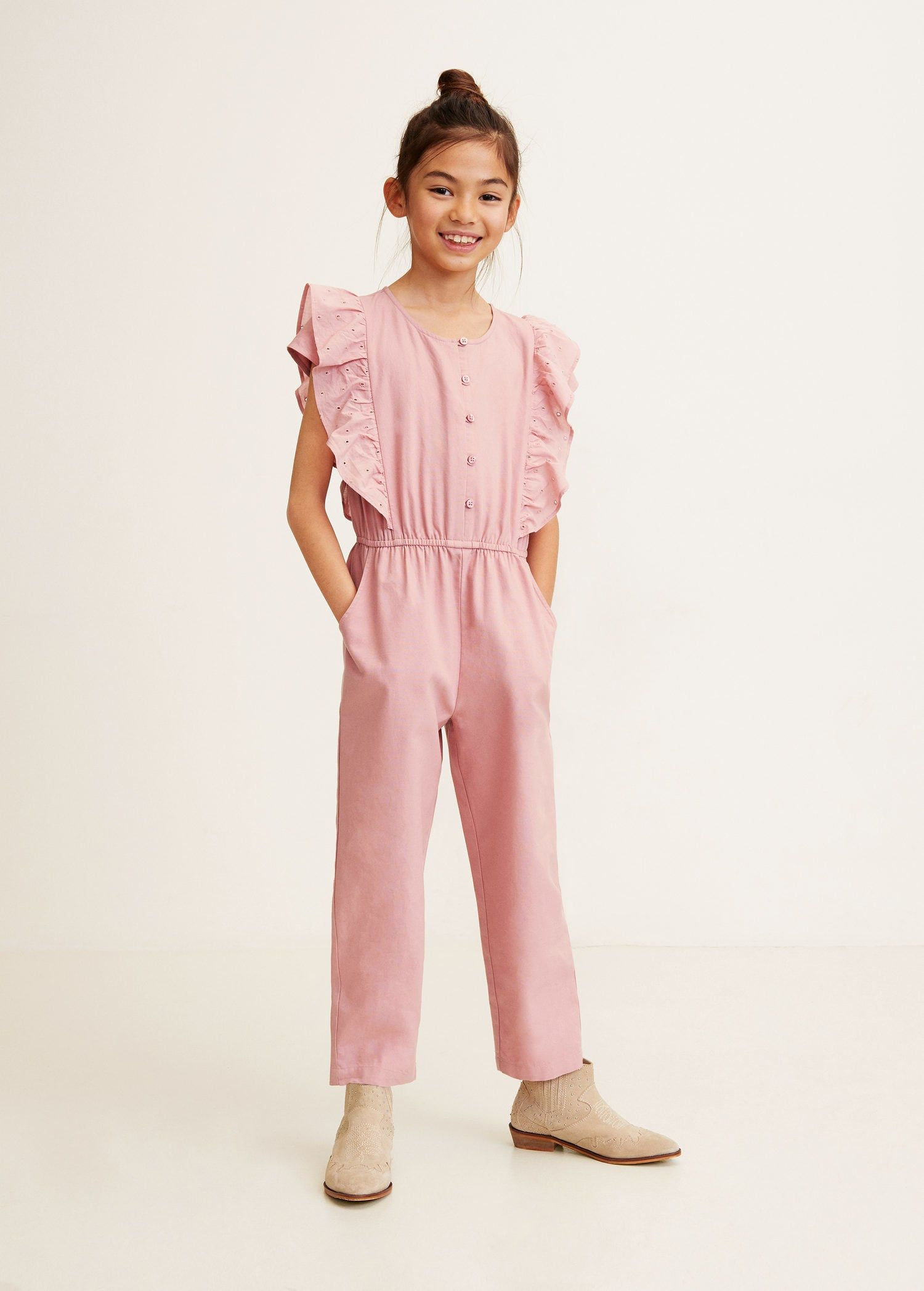 870fe0b8250 Frilled long jumpsuit - Girls in 2019