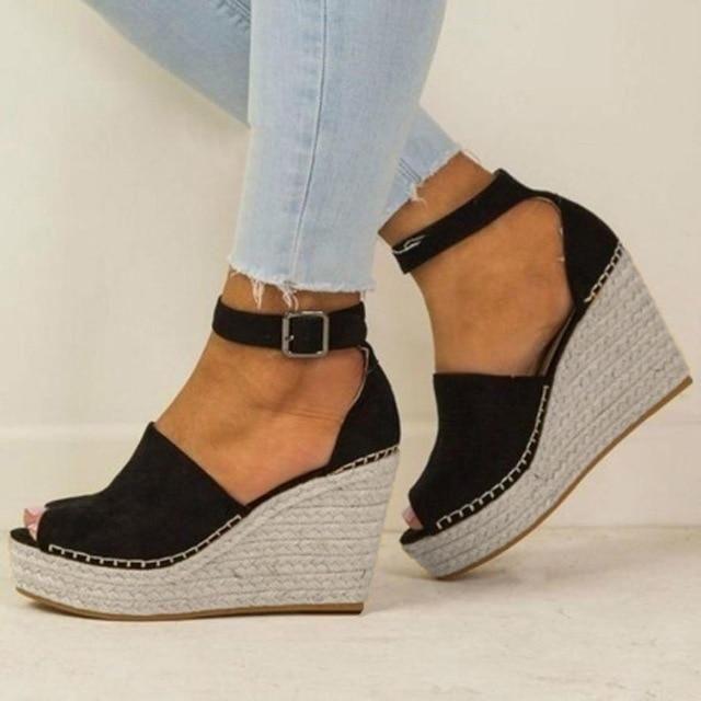 Womens sexy Fashion Peep Toe Wedge Sandals
