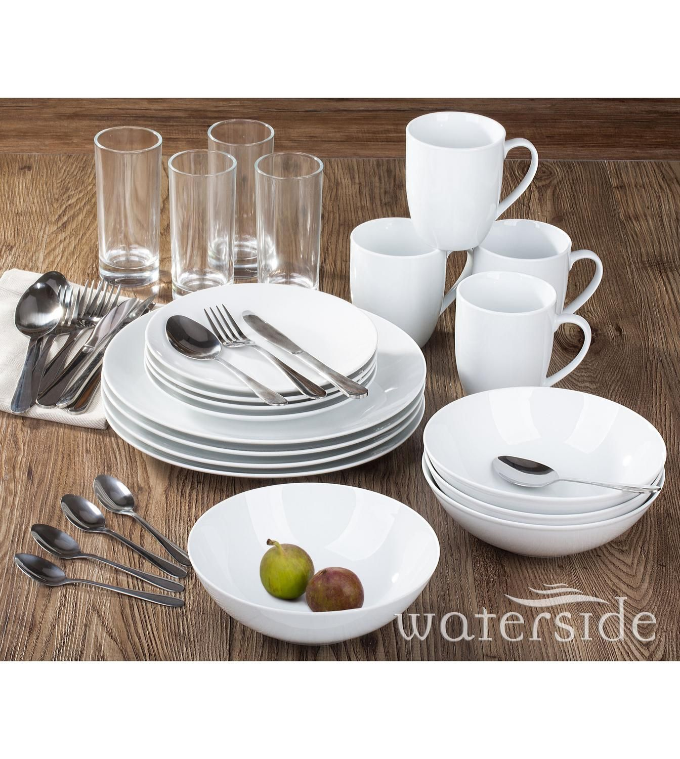 Image for 36 piece white bistro combo set from studio