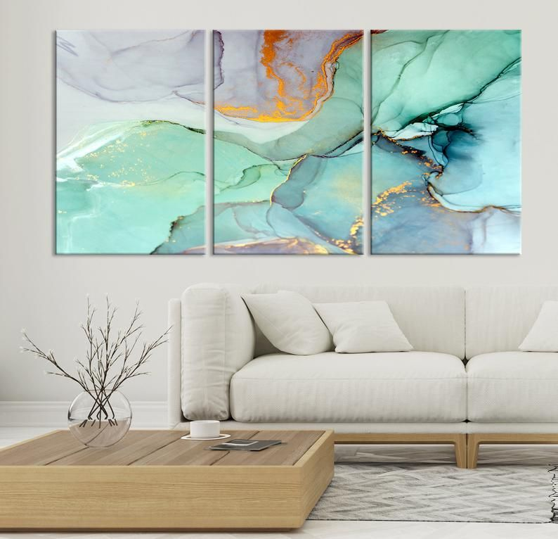 Marble Canvas Print Large Marble Abstract Canvas Art Abstract Blue Marble Effect Extra Large Triptych 3 Panel Print On Canvas Modern Abstract Canvas Art Abstract Canvas Abstract Canvas Painting